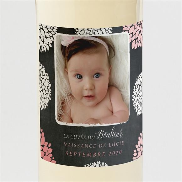 Etiquette de bouteille naissance Danse de photos sur Ardoise réf.N3001321