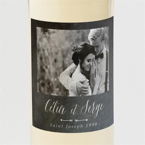 Etiquette de bouteille mariage Annonce ardoisée réf.N3001308