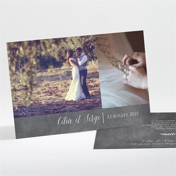 Remerciement mariage Annonce ardoisée réf.N111177