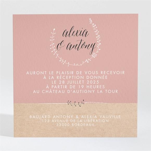 Carton d'invitation mariage Célébration d'amour réf.N3001312