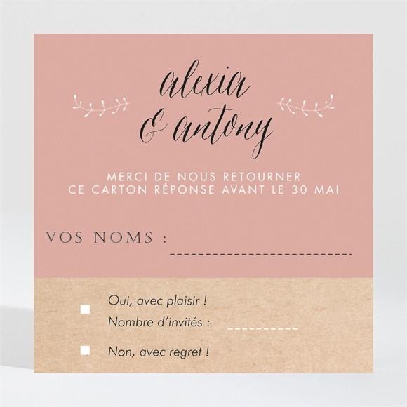 Carton réponse mariage Célébration d'amour réf.N3001313