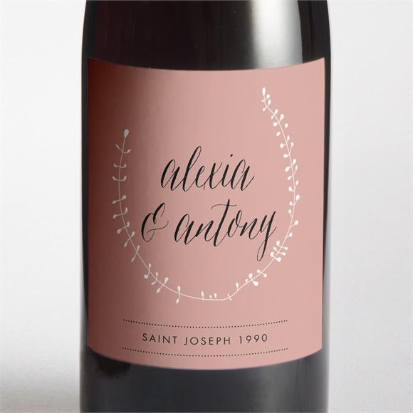 Etiquette de bouteille mariage Célébration d'amour réf.N3001314