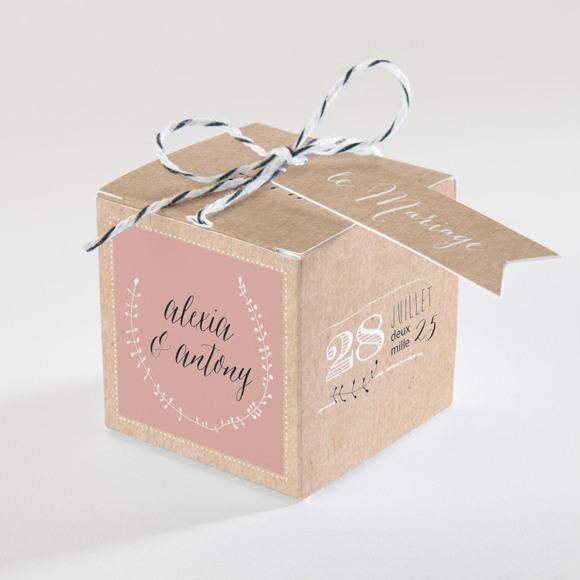 Boîte de dragées mariage Célébration d'amour réf.N34076