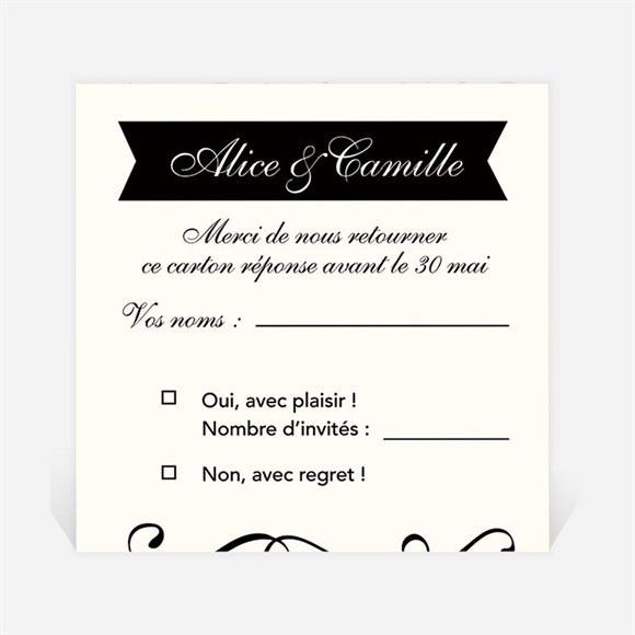 Carton réponse mariage Ambiance rétro réf.N3001323