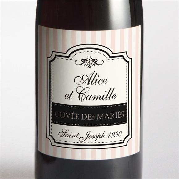 Etiquette de bouteille naissance Ambiance rétro réf.N3001324