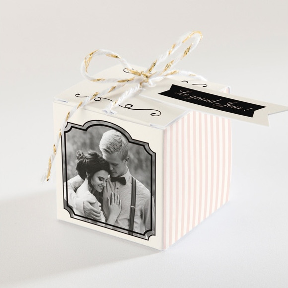 Boîte de dragées mariage Ambiance rétro réf.N34078