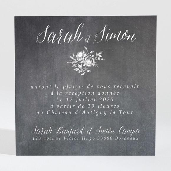 Carton d'invitation mariage Ardoise originale réf.N3001328