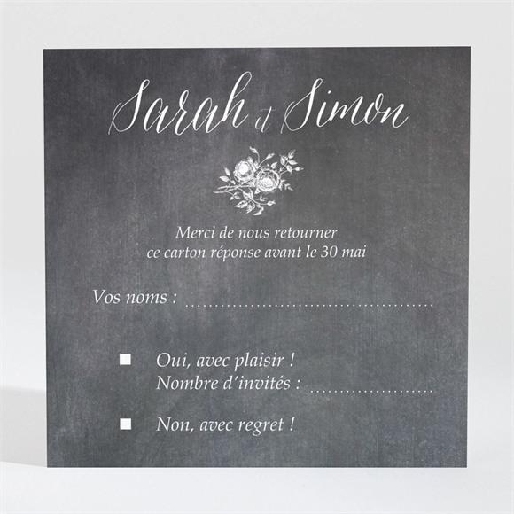 Carton réponse mariage Ardoise originale réf.N3001329