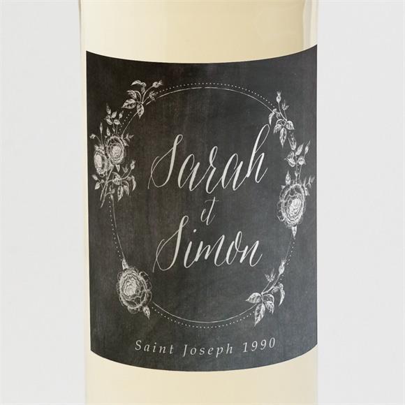 Etiquette de bouteille mariage Ardoise originale réf.N3001330
