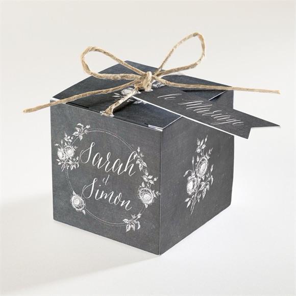 Boîte de dragées mariage Ardoise originale réf.N34080