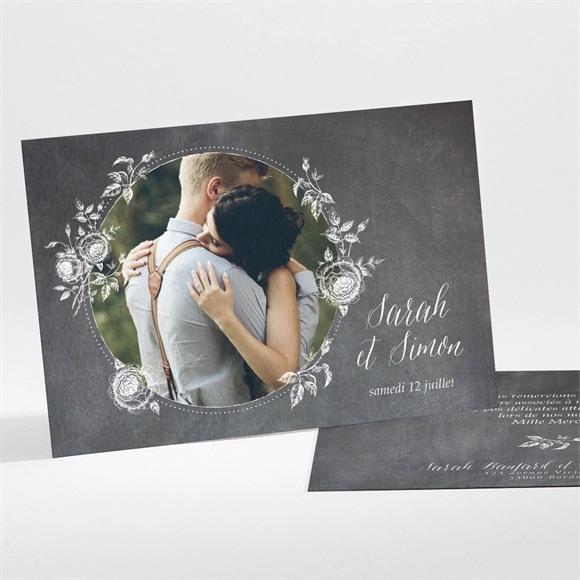 Remerciement mariage Ardoise originale réf.N111183