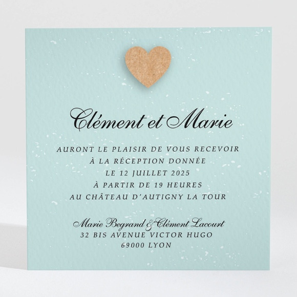 Carton d'invitation mariage Notre roman photo réf.N3001331
