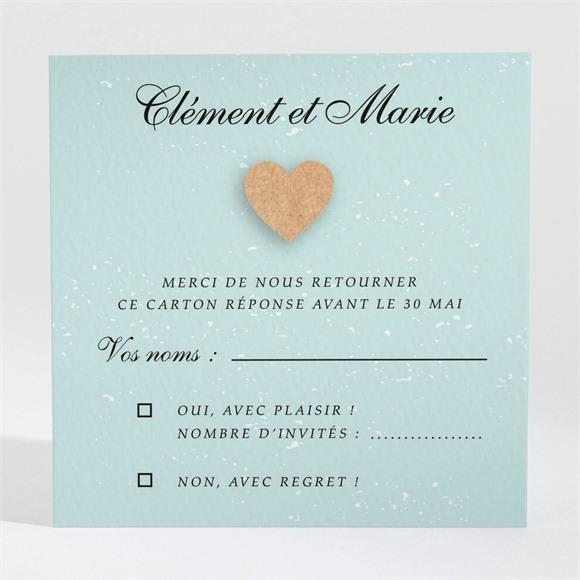 Carton réponse mariage Notre roman photo réf.N3001332