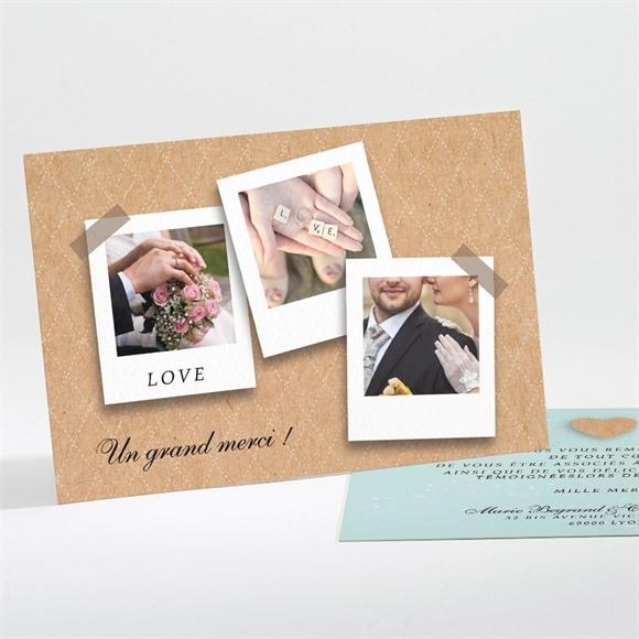 Remerciement mariage Notre roman photo réf.N111184