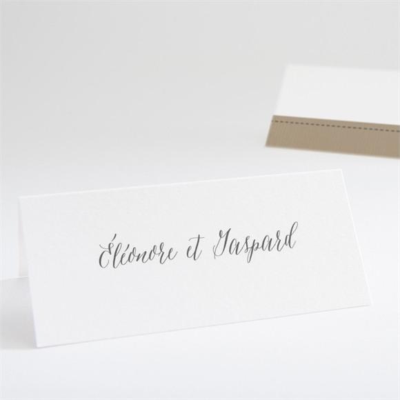Marque-place mariage Kraft et ficelle réf.N440637