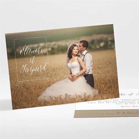 Remerciement mariage Kraft et ficelle réf.N111185