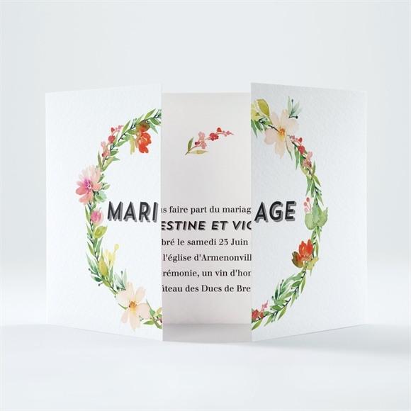 Faire-part mariage Fleurs et champetre réf.N70166
