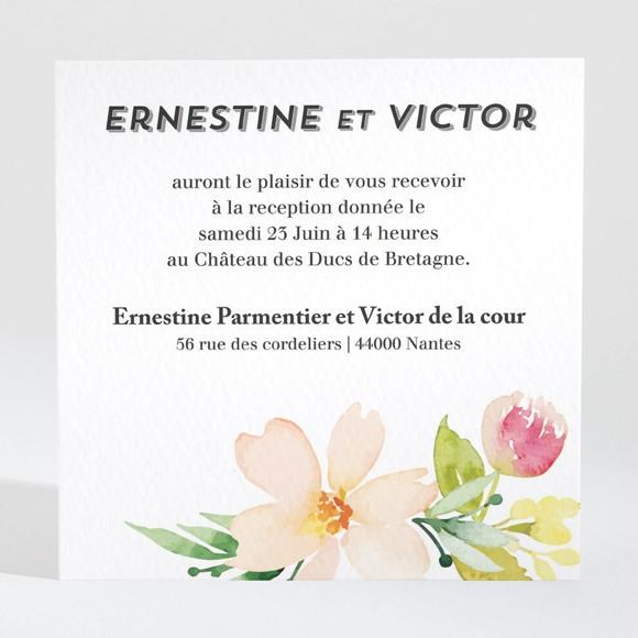 Carton d'invitation mariage Fleurs et champetre réf.N3001340