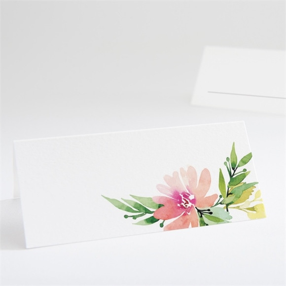 Marque-place mariage Fleurs et champetre réf.N440639