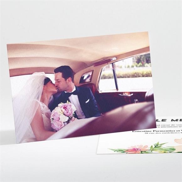 Remerciement mariage Fleurs et champetre réf.N111187