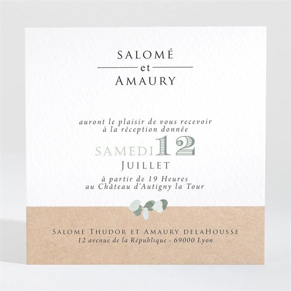 Carton d'invitation mariage Bonheur réf.N3001343