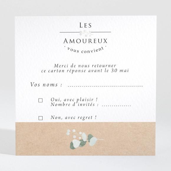 Carton réponse mariage Bonheur réf.N3001344