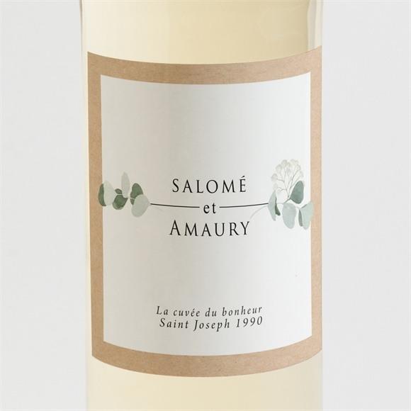 Etiquette de bouteille mariage Bonheur réf.N3001345