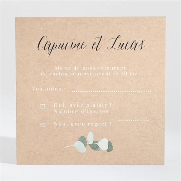 Carton réponse mariage Eucalyptus réf.N3001347