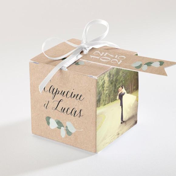 Boîte de dragées mariage Eucalyptus réf.N34086