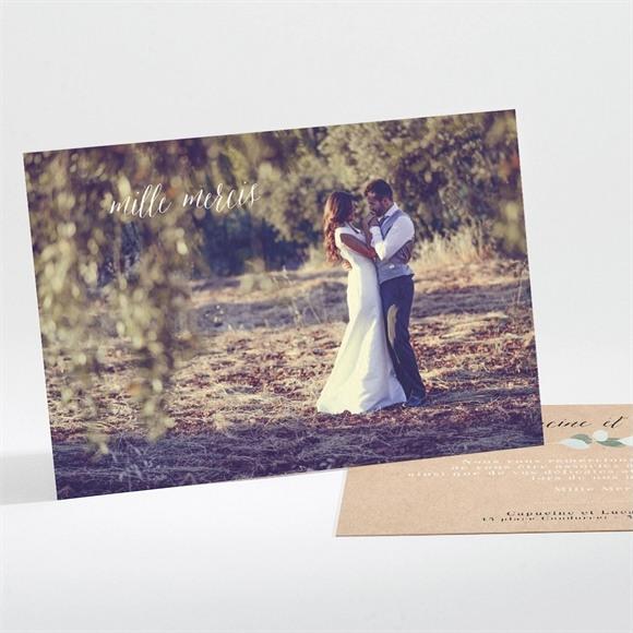 Remerciement mariage Eucalyptus réf.N111189