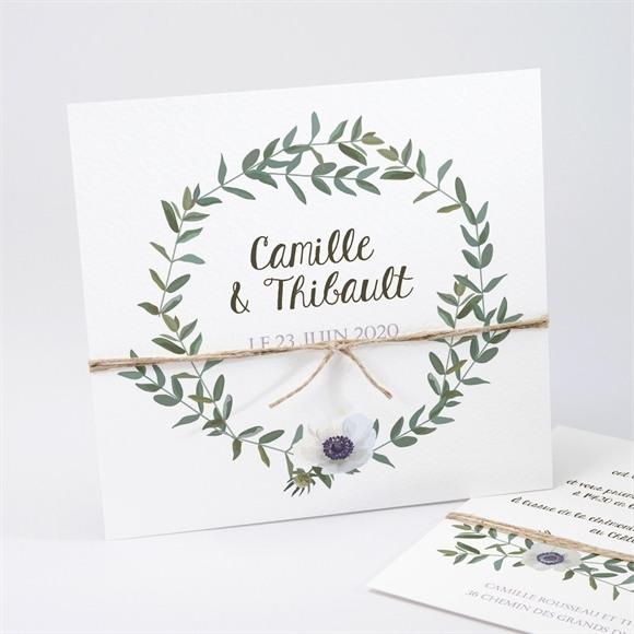 Faire-part mariage Couronne d'olivier réf.N311197