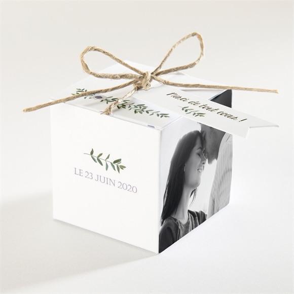 Boîte de dragées mariage Couronne d'olivier réf.N34087