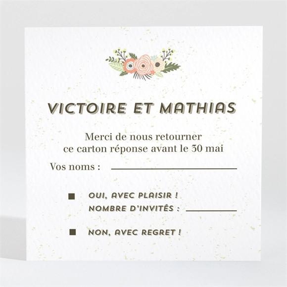 Carton réponse mariage En Tandem réf.N3001353