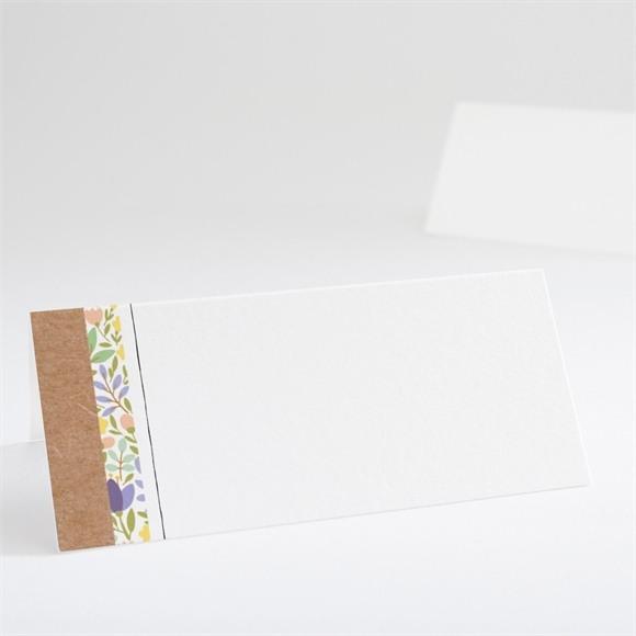 Marque-place mariage Kraft et floral réf.N440644