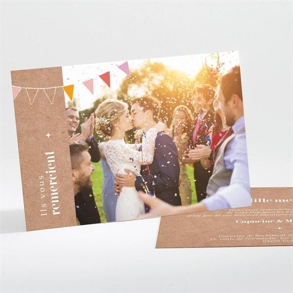Remerciement mariage Banderoles & Kraft réf.N111191