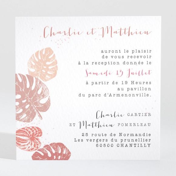 Carton d'invitation mariage Ronde chaude réf.N3001362