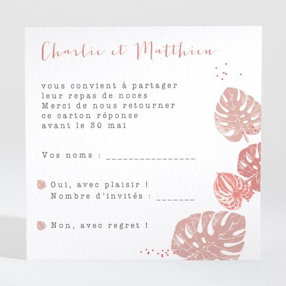 Carton réponse mariage Ronde chaude réf.N3001363