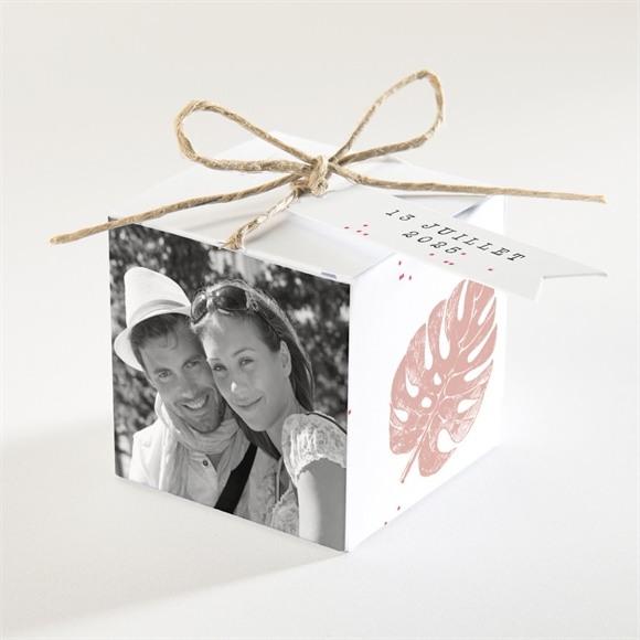 Boîte de dragées mariage Ronde chaude réf.N34091