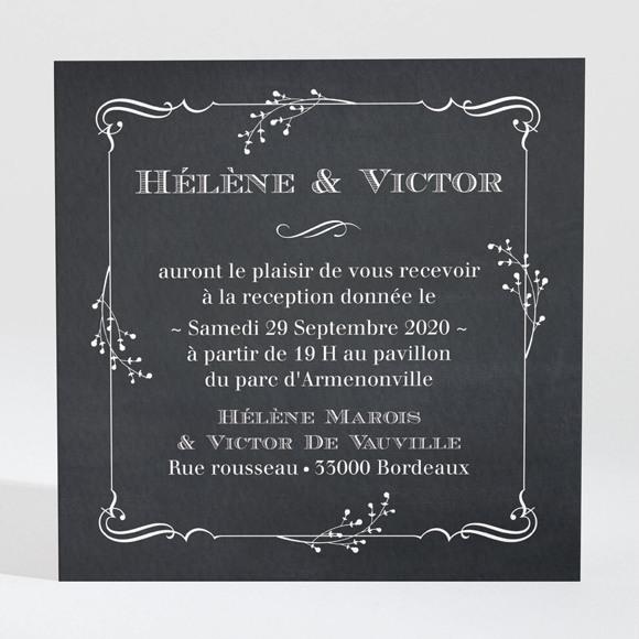 Carton d'invitation mariage Jeu d'ardoise réf.N3001369