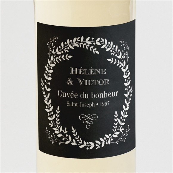 Etiquette de bouteille mariage Jeu d'ardoise réf.N3001371