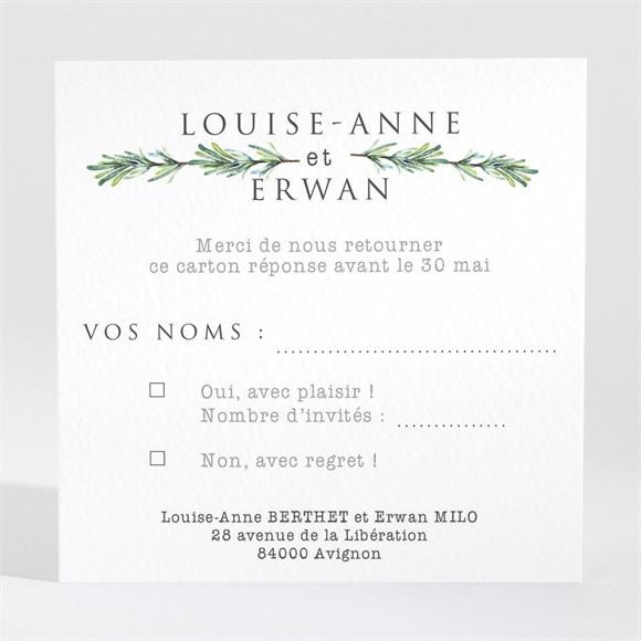 Carton réponse mariage Poésie et photo réf.N3001376