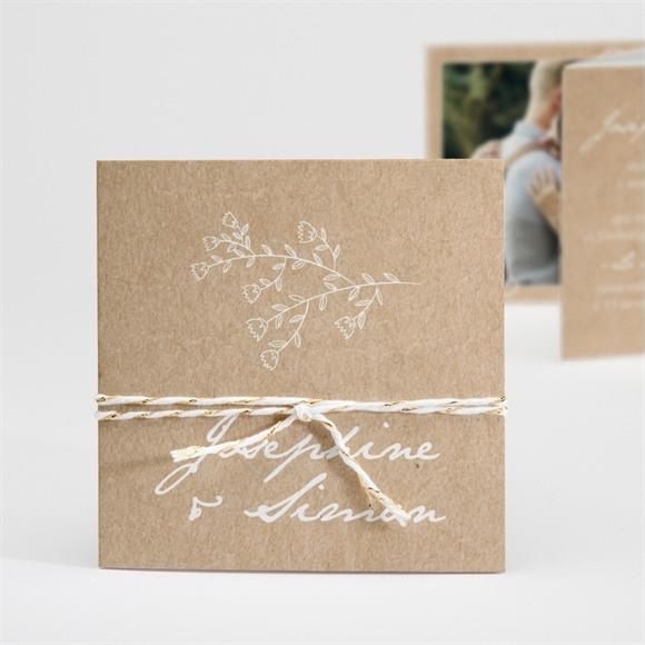 Faire-part mariage Typo & Kraft réf.N83058