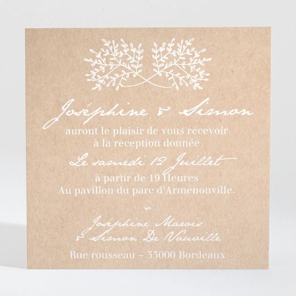 Carton d'invitation mariage Typo & Kraft réf.N3001379