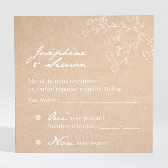 Carton réponse mariage Typo & Kraft réf.N3001380