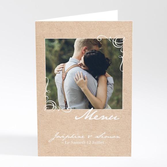 Menu mariage Typo & Kraft réf.N401792