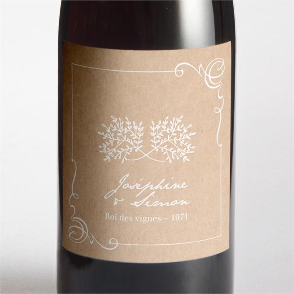 Etiquette de bouteille mariage Typo & Kraft réf.N3001381