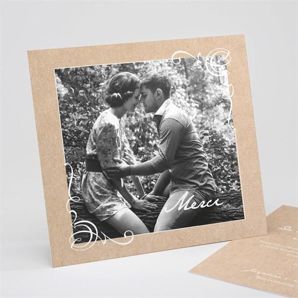 Remerciement mariage Typo & Kraft réf.N311200