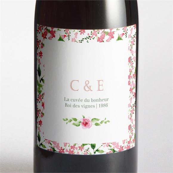 Etiquette de bouteille mariage Fraicheur réf.N3001384