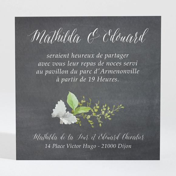 Carton d'invitation mariage Couronne en ardoise réf.N3001386