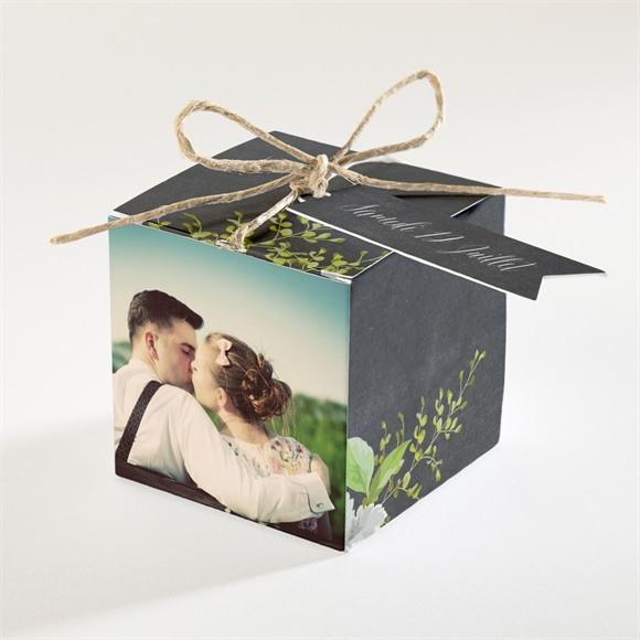 Boîte de dragées mariage Couronne en ardoise réf.N34098
